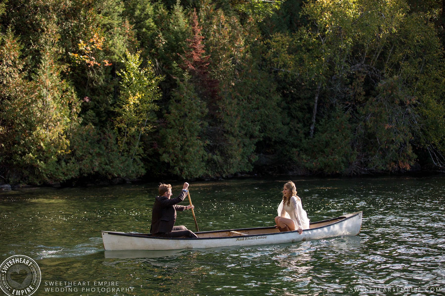 Wedding Canoe Ride