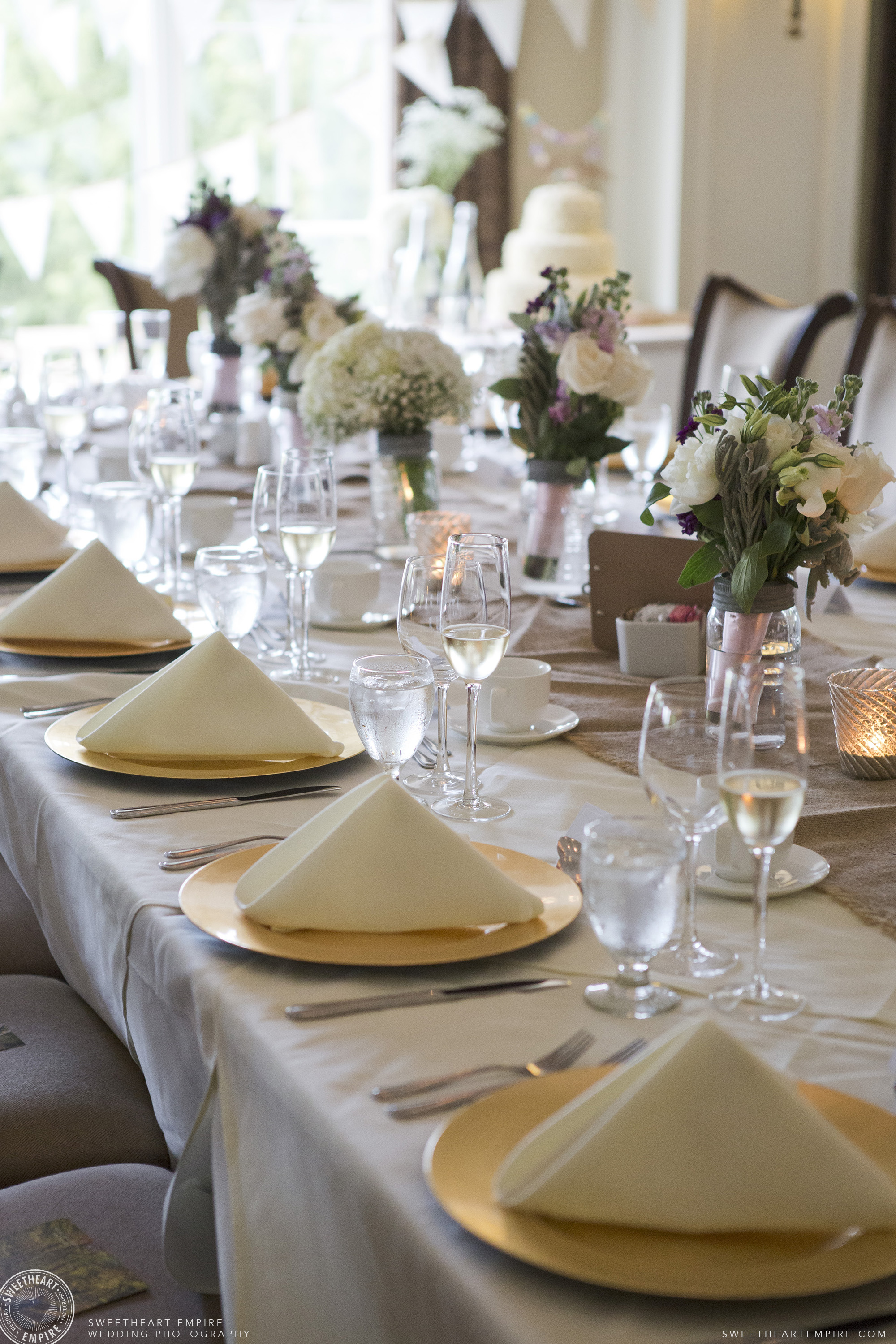 Lovely table setting at Oakville Golf Club Wedding