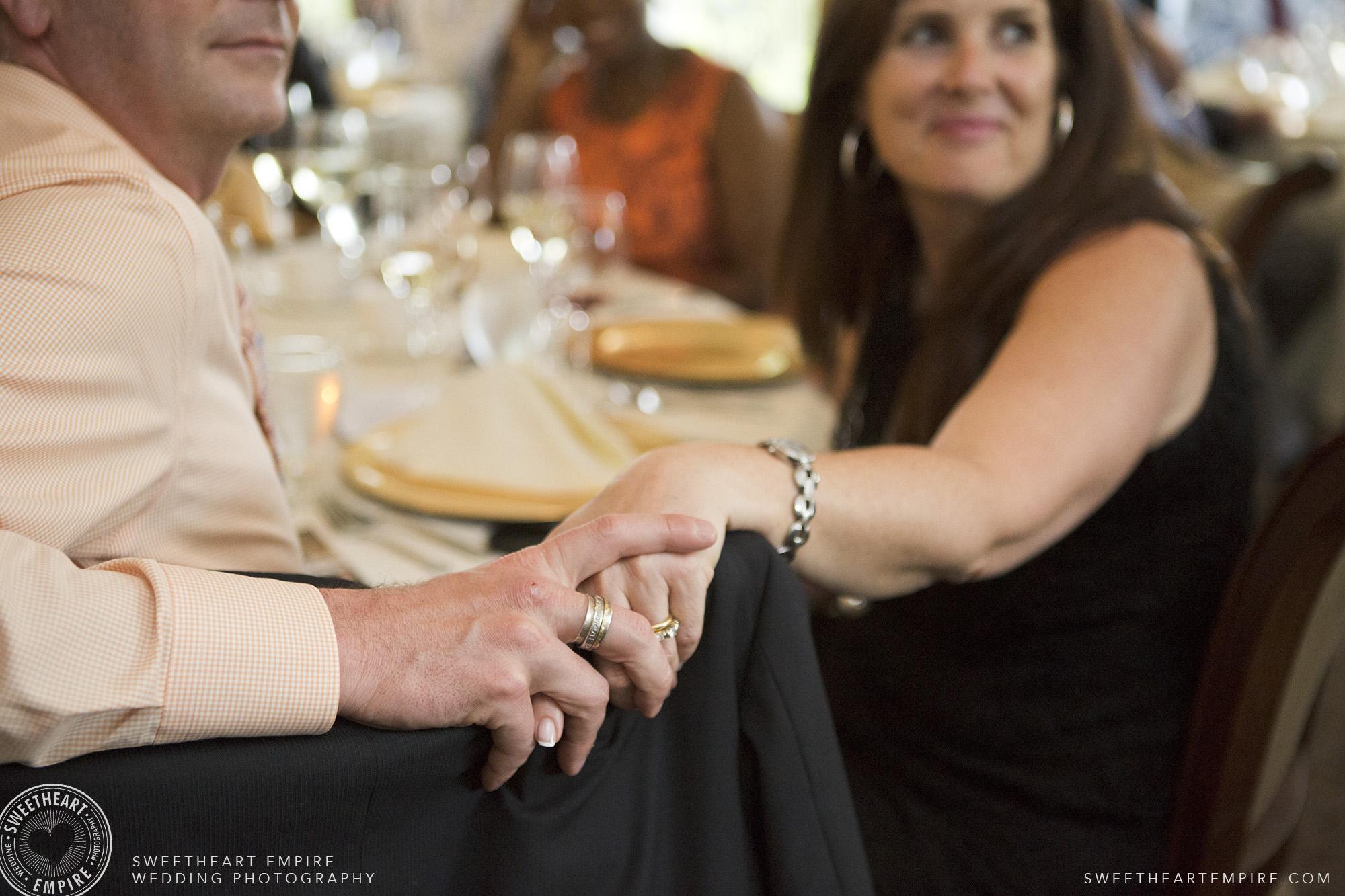 Wedding guests holding hands, Oakville Golf Club Wedding