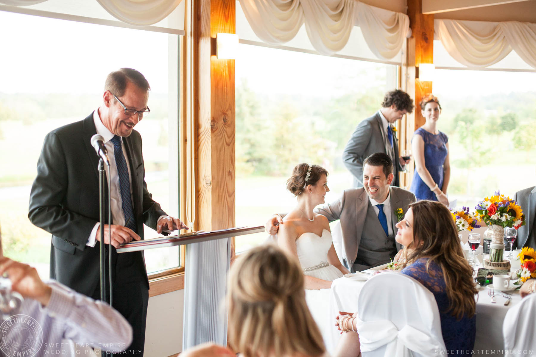 Wedding speeches, Rockway Vineyard Wedding, Niagara