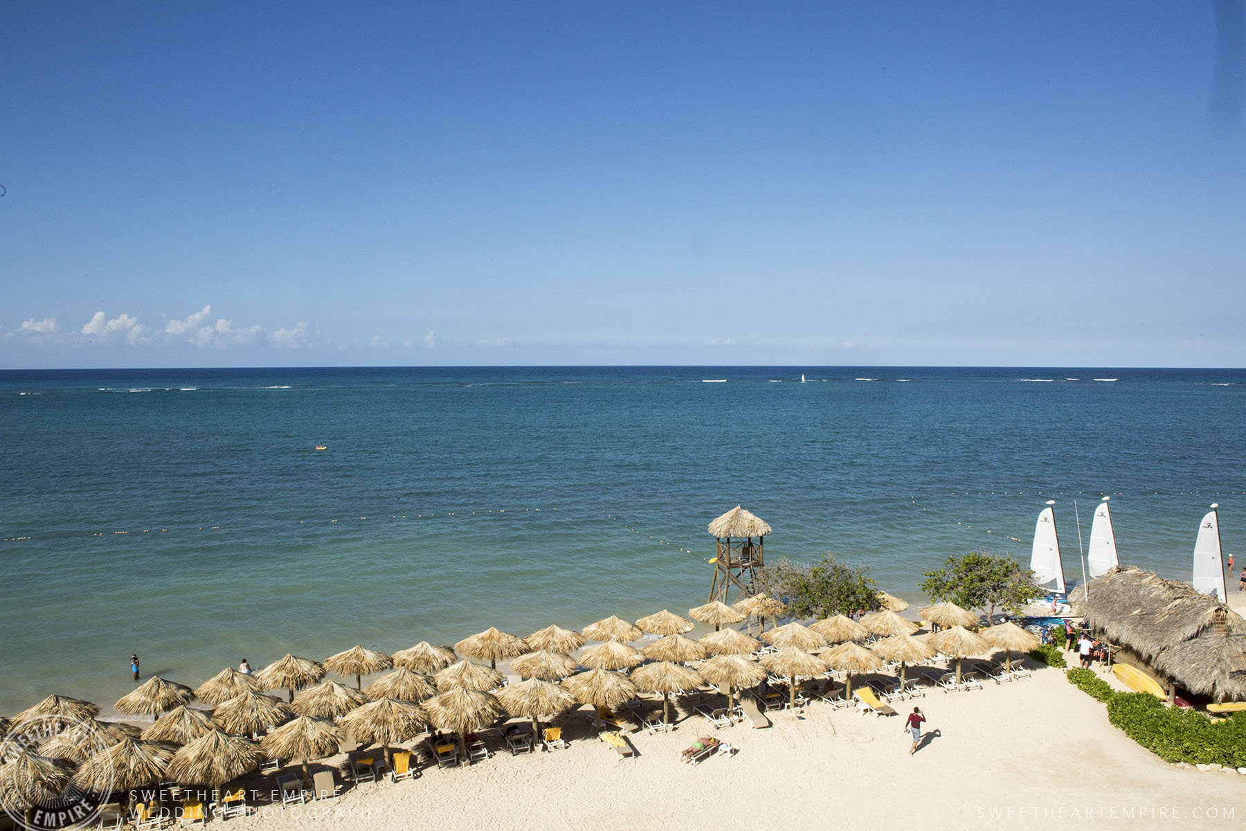 View of the beach at Iberostar Grand Hotel Rose Hall, in Montego Bay, Jamaica