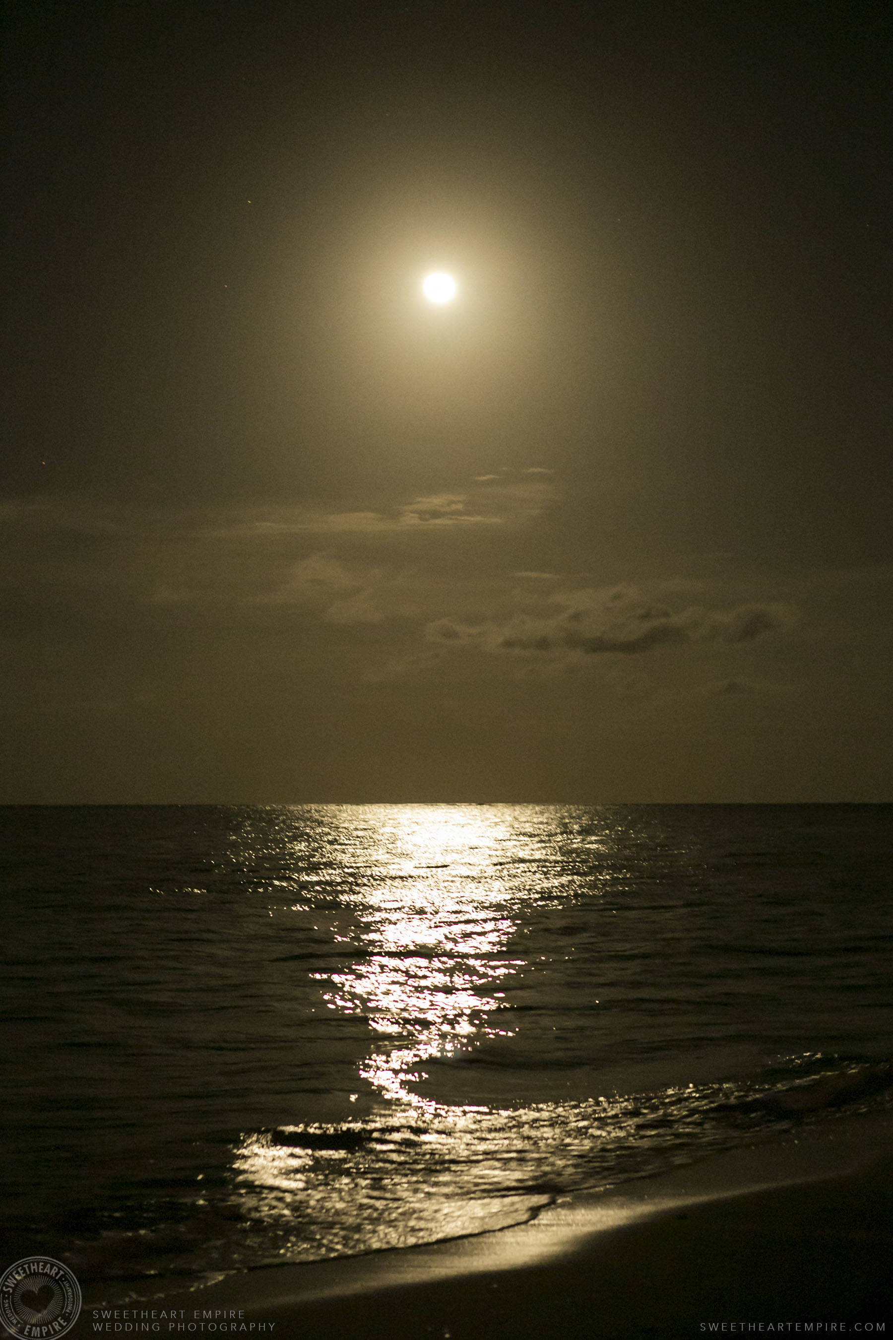 Full moon at Iberostar Grand Hotel Rose Hall, in Montego Bay, Jamaica