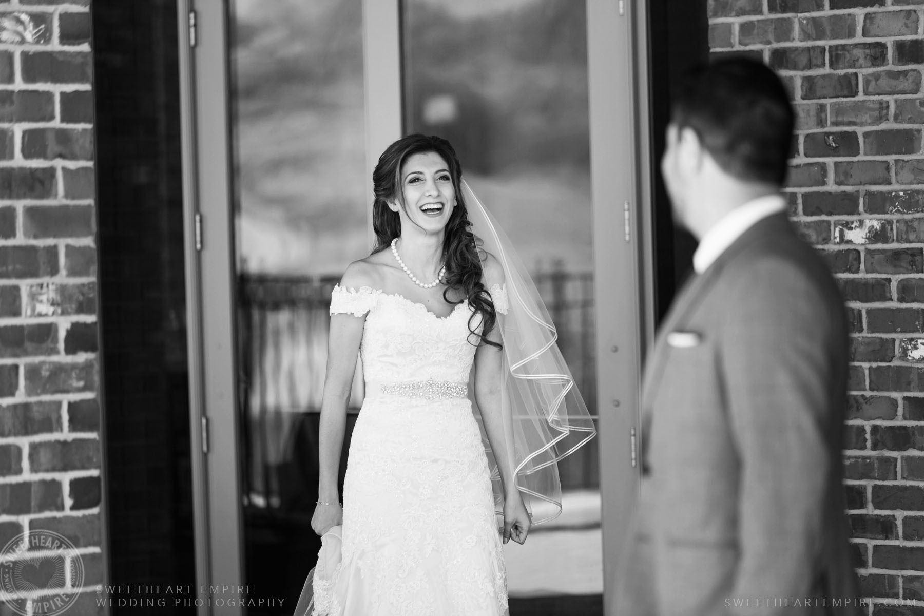 The first look; Eagles Nest Golf Club Wedding Photos
