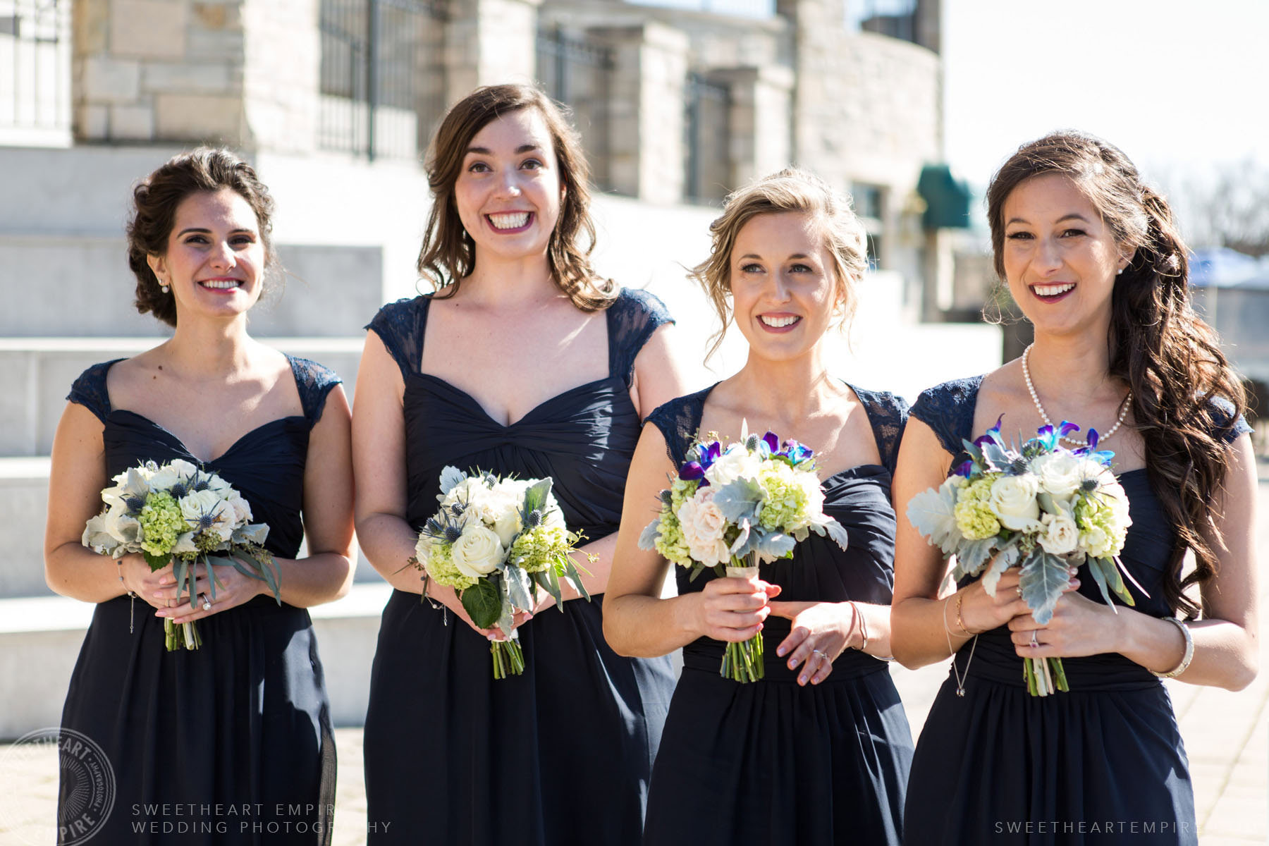 Portrait of lovely bridesmaids; Eagles Nest Golf Club Wedding Photos