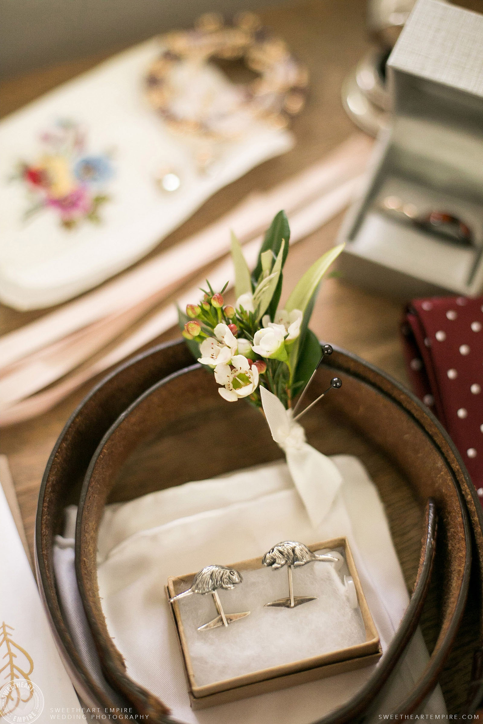 Wedding details, Toronto Island Elopement