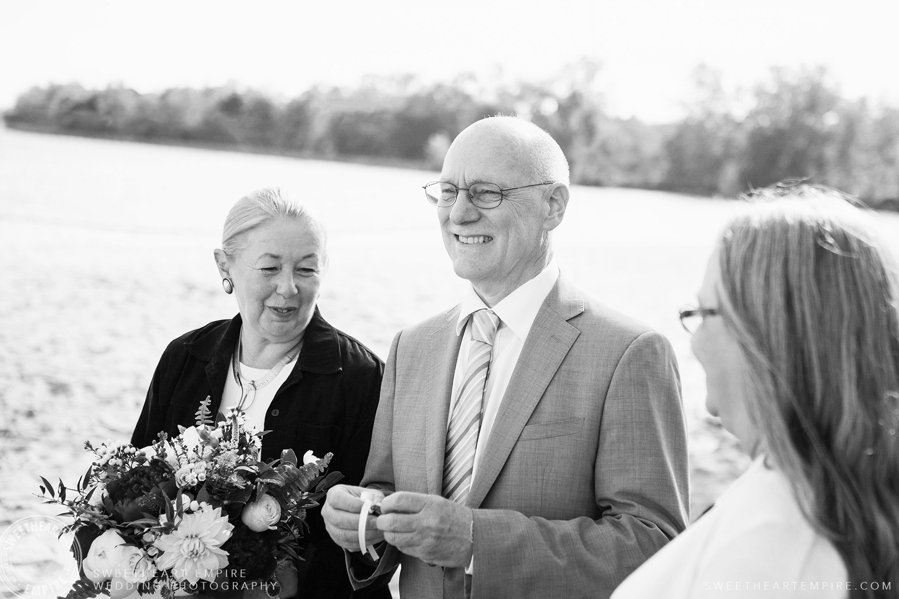 Proud parents, Toronto Island Elopement