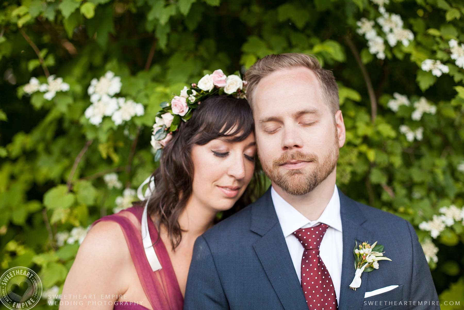 Bride and groom, Toronto Island Elopement