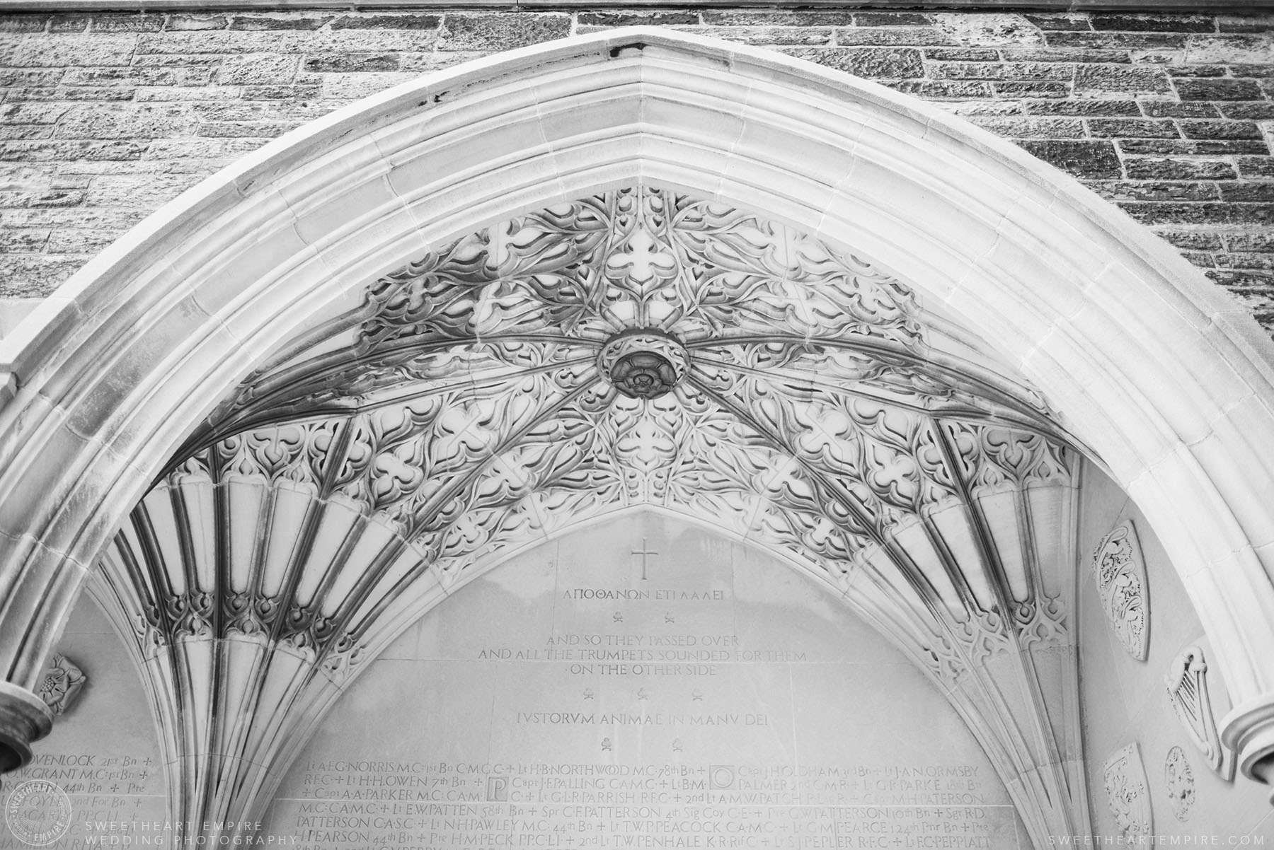 The beautiful architecture at U of T, Hart House University of Toronto Wedding