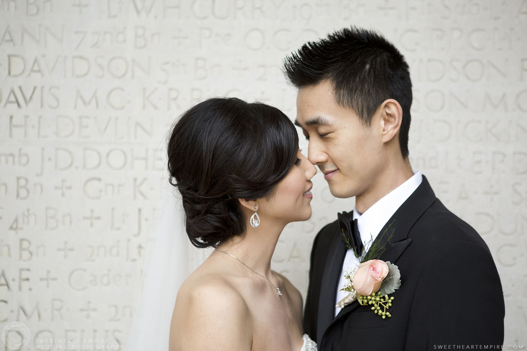 Bride and groom share an intimate moment, Hart House University of Toronto Wedding