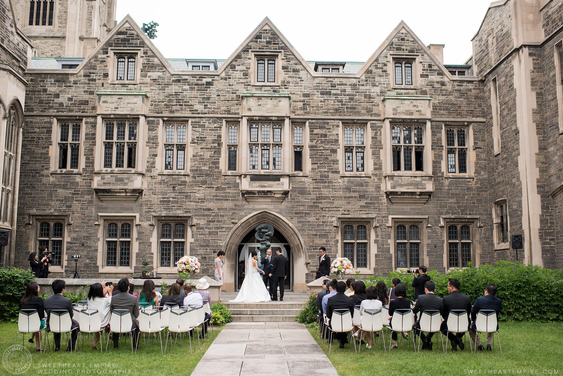 Marriage ceremony, Hart House University of Toronto Wedding