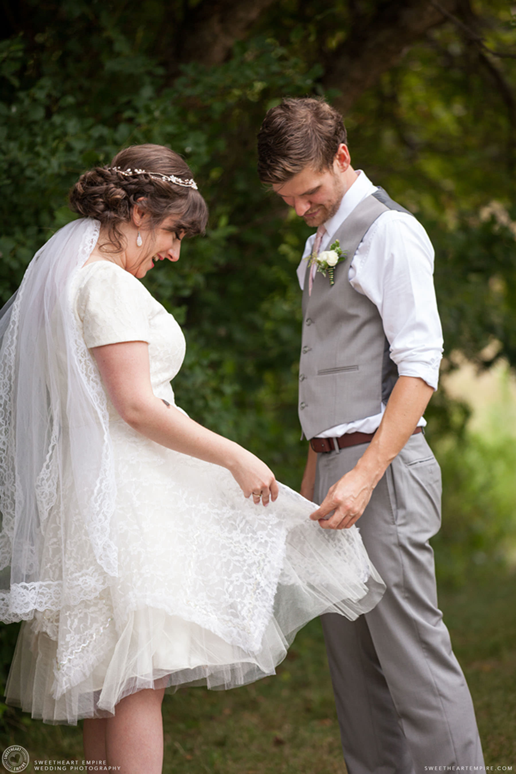 Bride and groom first look; Aberfoyle Mill Wedding