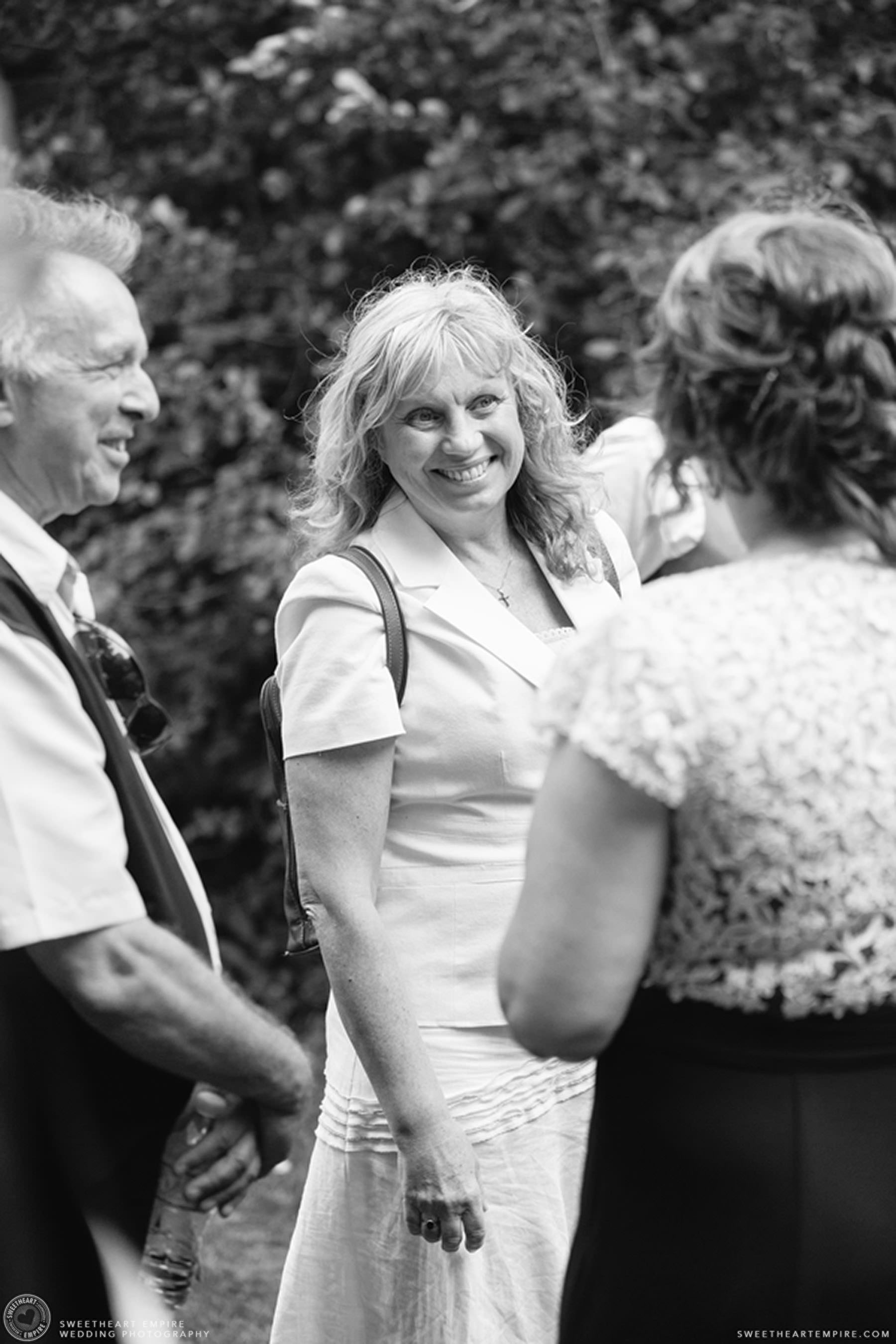 Wedding guests mingling; Aberfoyle Mill Wedding