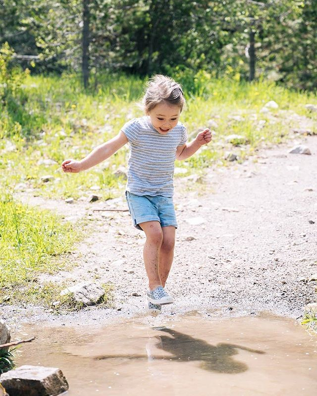 We followed Whitney around this trail trying to capture her cuteness because she jumped in every single puddle she passed big or small. 😂 I think we could all use a little more puddle jumping in our lives! ➡️ - #toddlers #familytravel #exploreoutsidetogether #outsideisbetter #summertravels #daysofsummer #exploretogether #puddlejumper #bejoyful