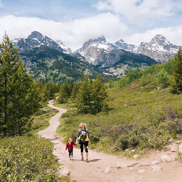 Our last trail in The Grand Tetons and we are sad to leave this beautiful place! We just could not get enough of these views. 😍  We want to know where you have traveled to this summer! Tell us in the comments a place you've been with your kids and what you loved about it. We are always adding to our summer bucket list. 😄 - #familytravel #seetheworld #familybucketlist #bucketlistvacations #travelwithkids #hikingwithkids #hiketogether #getoutside #exploretheworld #grandtetonnationalpark #grandtetons #tetons #familyhiking #mountaintrail