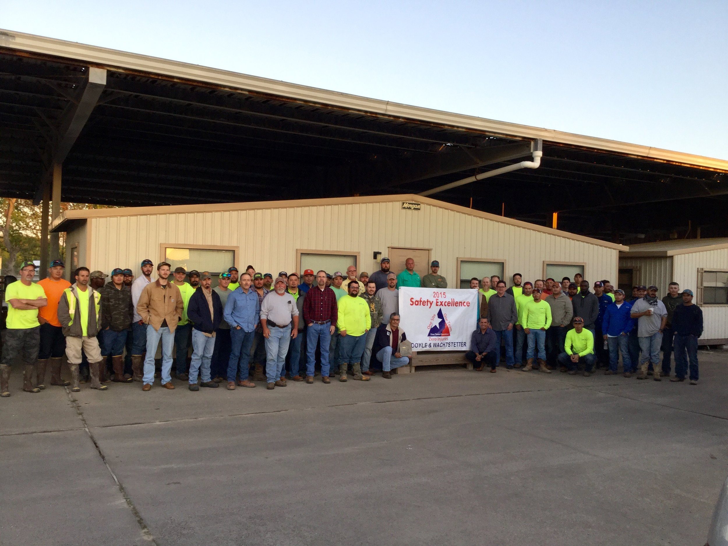 D&W Employees - Dow 2015 Contractor Safety Award