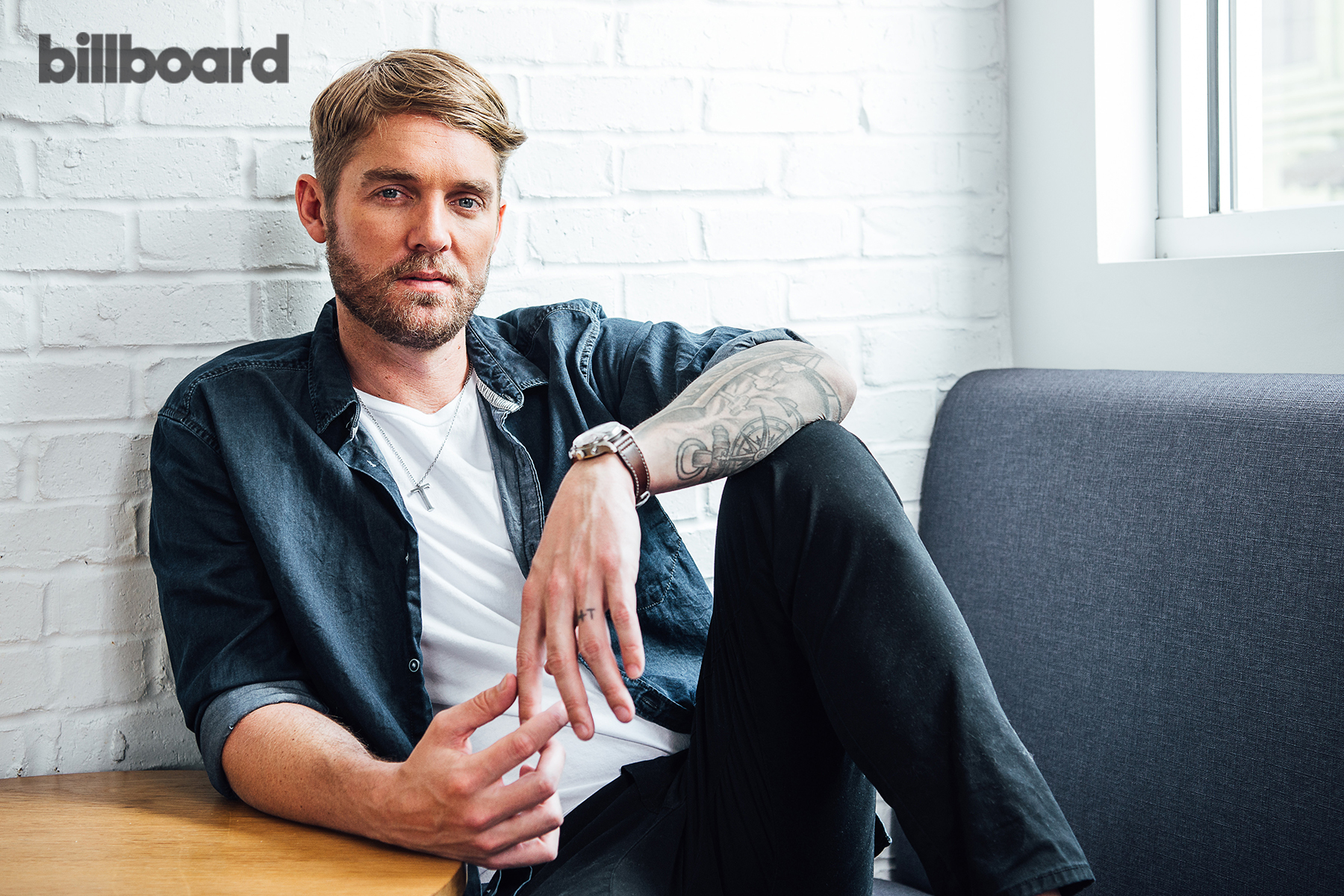 Country singer Brett Young for Billboard June 2018 issue