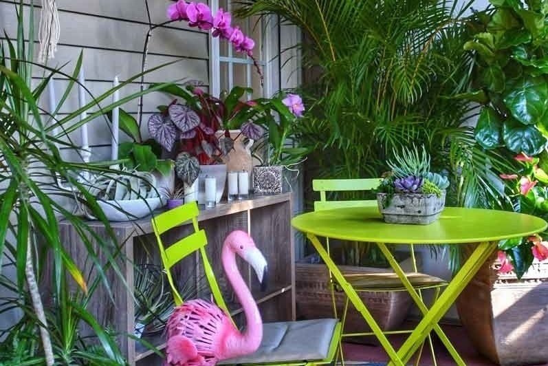 Styling with Houseplants - When it comes to decorating outdoor spaces don't forget to use houseplants. They are a great solution to adding more greenery to your living spaces.