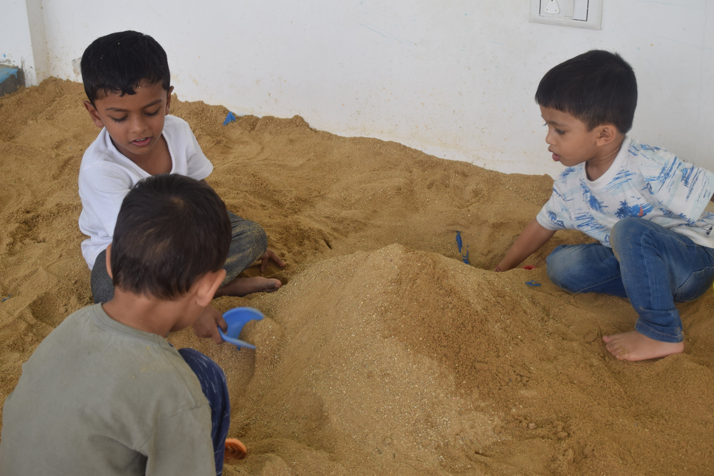Building skills through sand play