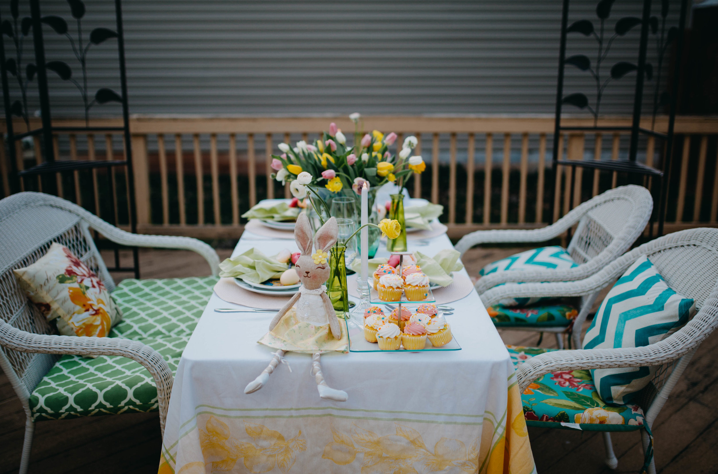 Whimsical Outdoor Easter Tablescape