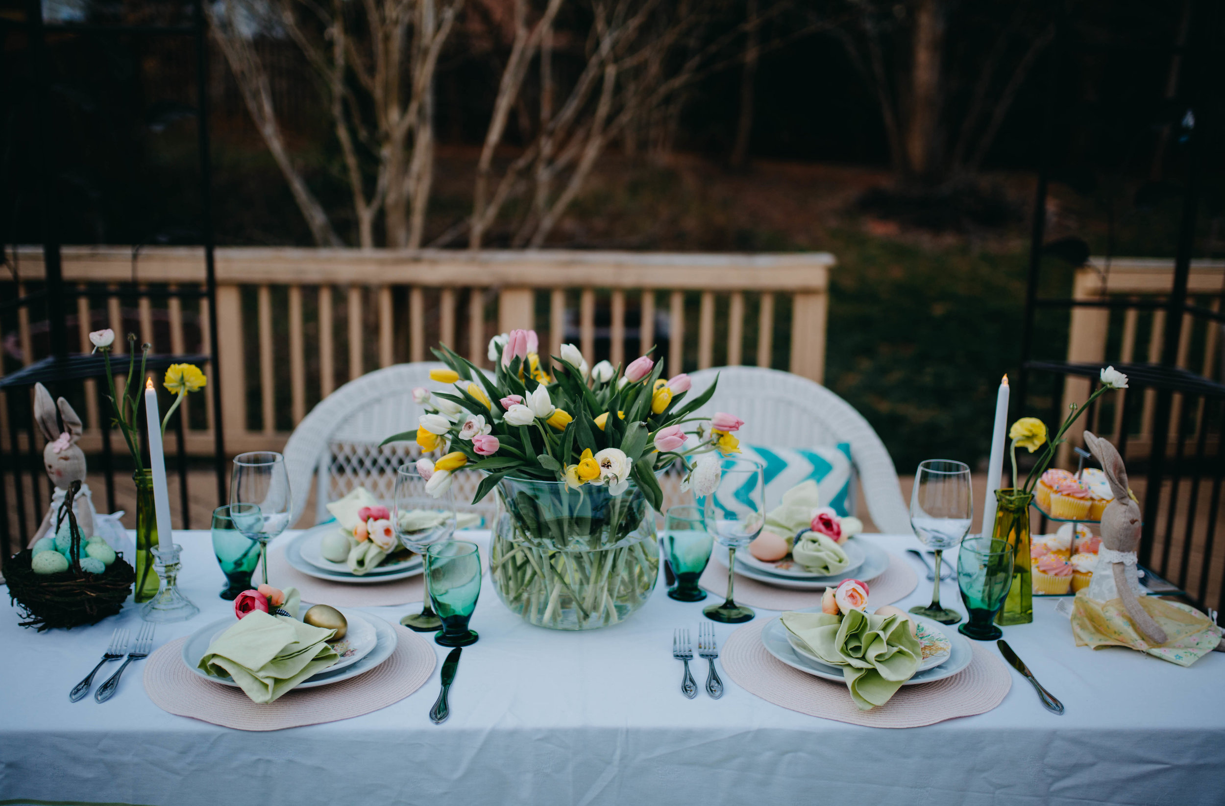 How to Decorate a Beautiful Easter Tablescape - Always Creating Studio