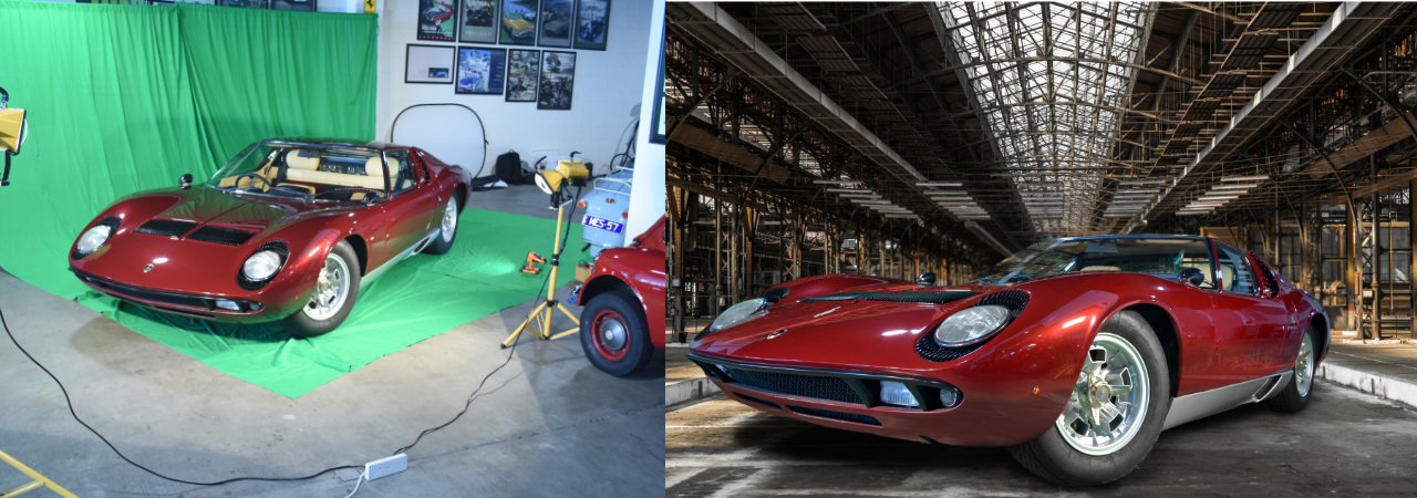 Before & After - Green Screen to Composite