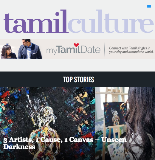 Feature - This collaboration was featured on Tamil Culture!