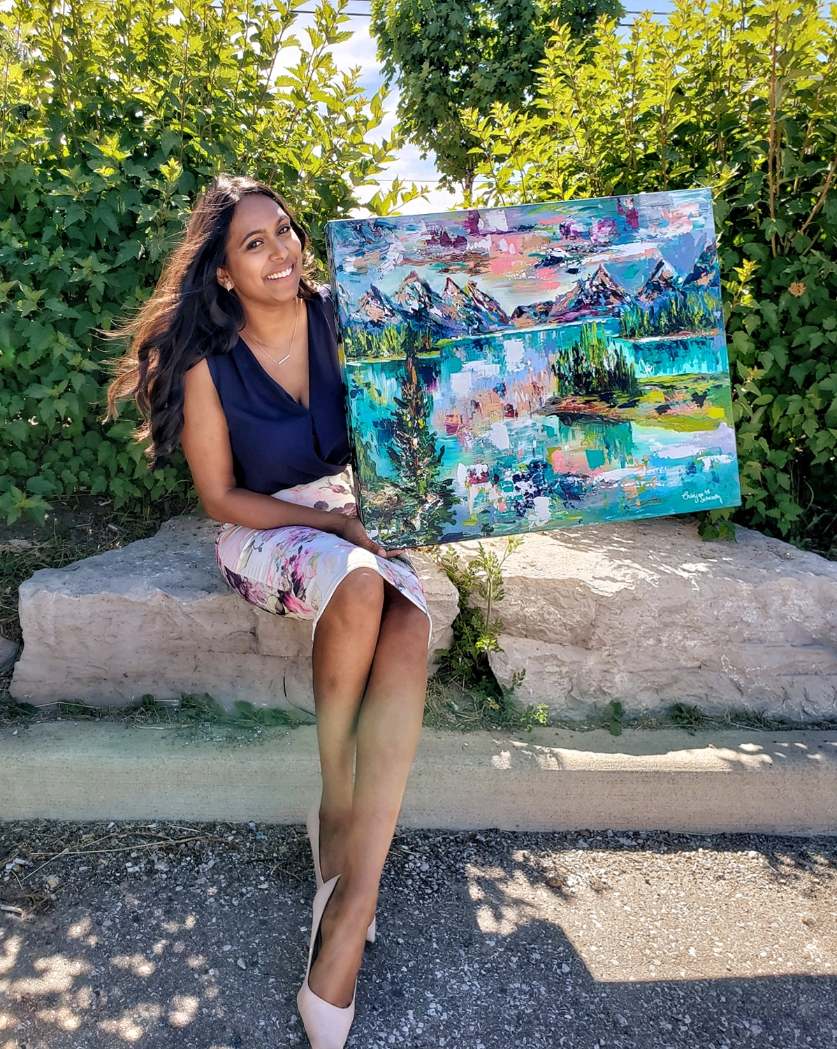 Painting was commissioned by Metrolinx, Crosslinx and City of Toronto andyou can have the chance to win it! - 'Breathe'Acrylic on Canvas 2018
