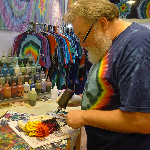 Make custom tie dye shirts for your company.