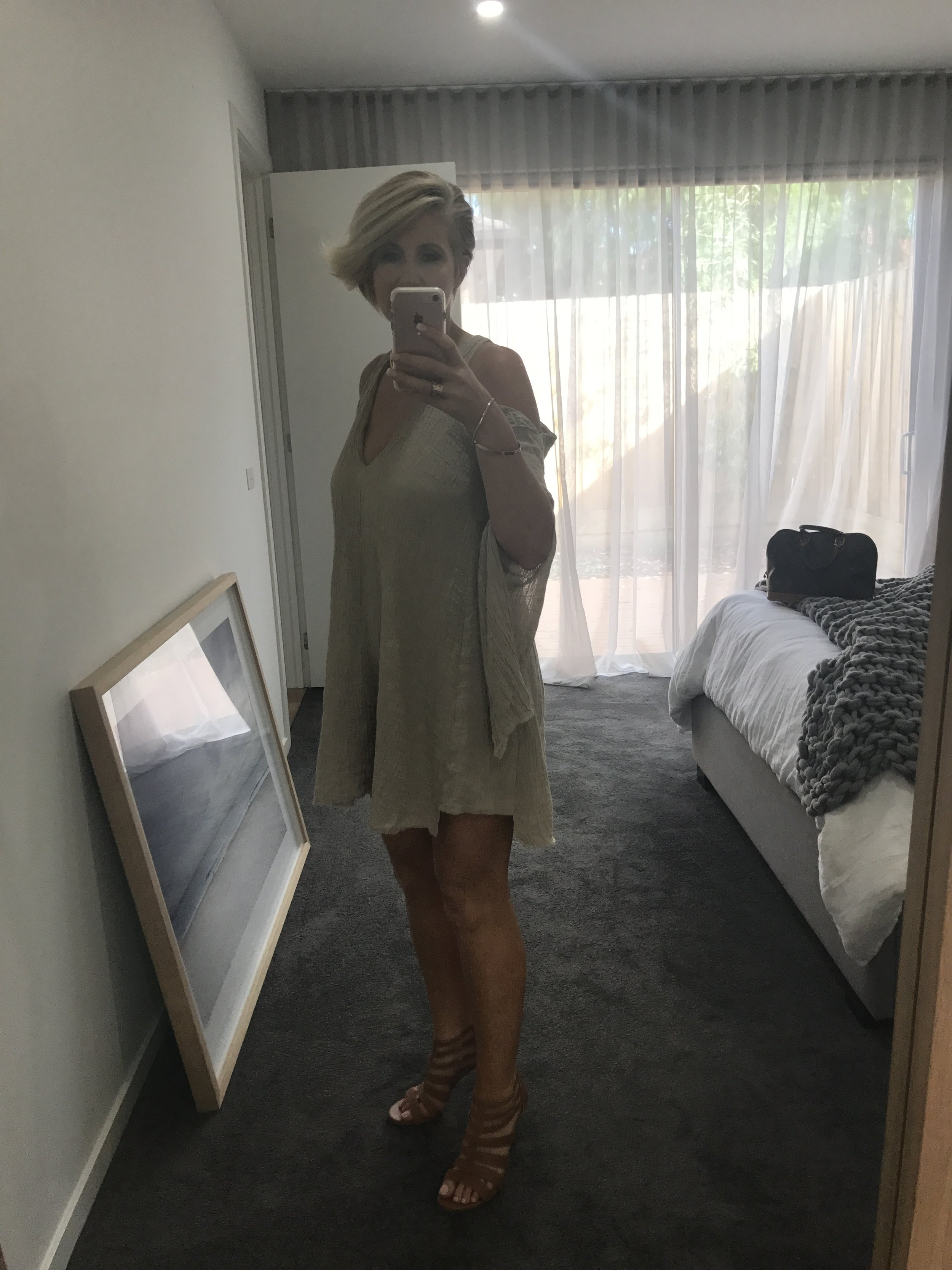 KITX 2016 collection dress - I think I am down to $1 per wear with all Kit's dresses. I wore this to lunch this day, then added heels to head out to the theatre.