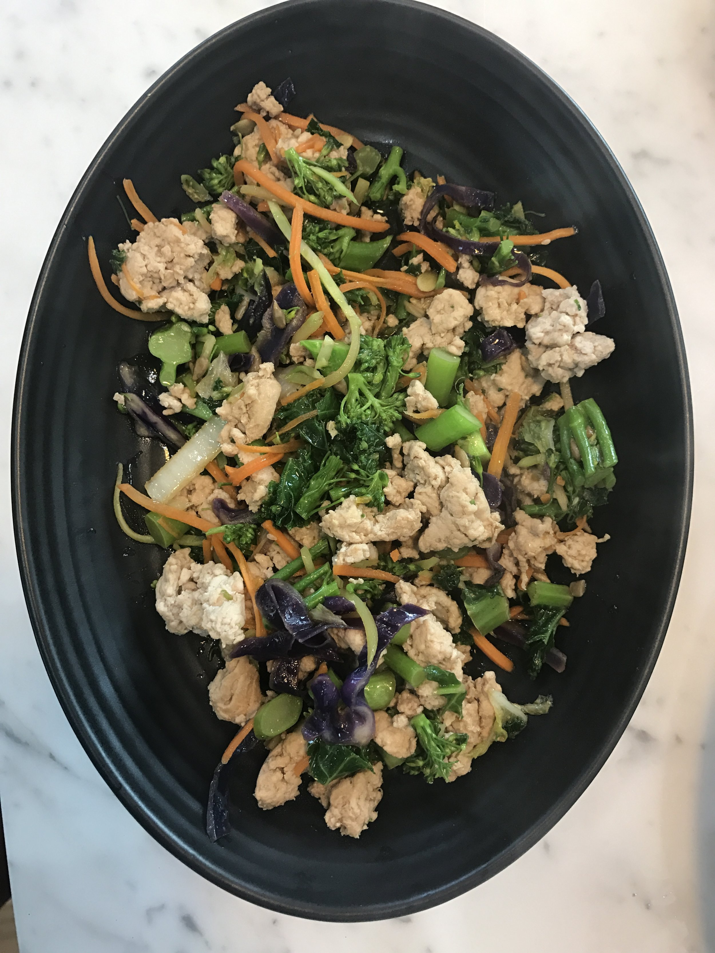 One of our recipes, see  5 Super Easy 10 Minute Meals