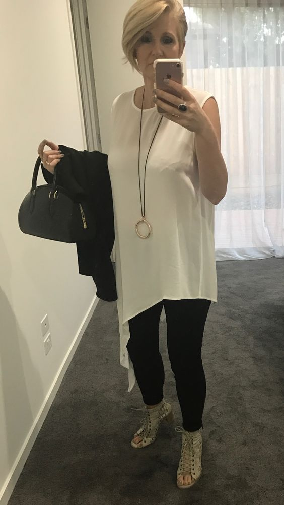 """Literally rushing out the door, husband about to start tooting the car!!! Had to do the """"10 Minute Housewife To Hornbag"""" tonight after work as meeting ran late. So kept on Witchery jeans, Mollini Jayman shoes (staples all summer) and threw on this gorgeous diagonal hem top, quick necklace, jacket and bag change, lipstick and out the door! Made the show with a minute to spare and no tooting!!! Check out my Caz's wardrobe looks at  cazinc pinterest  page."""