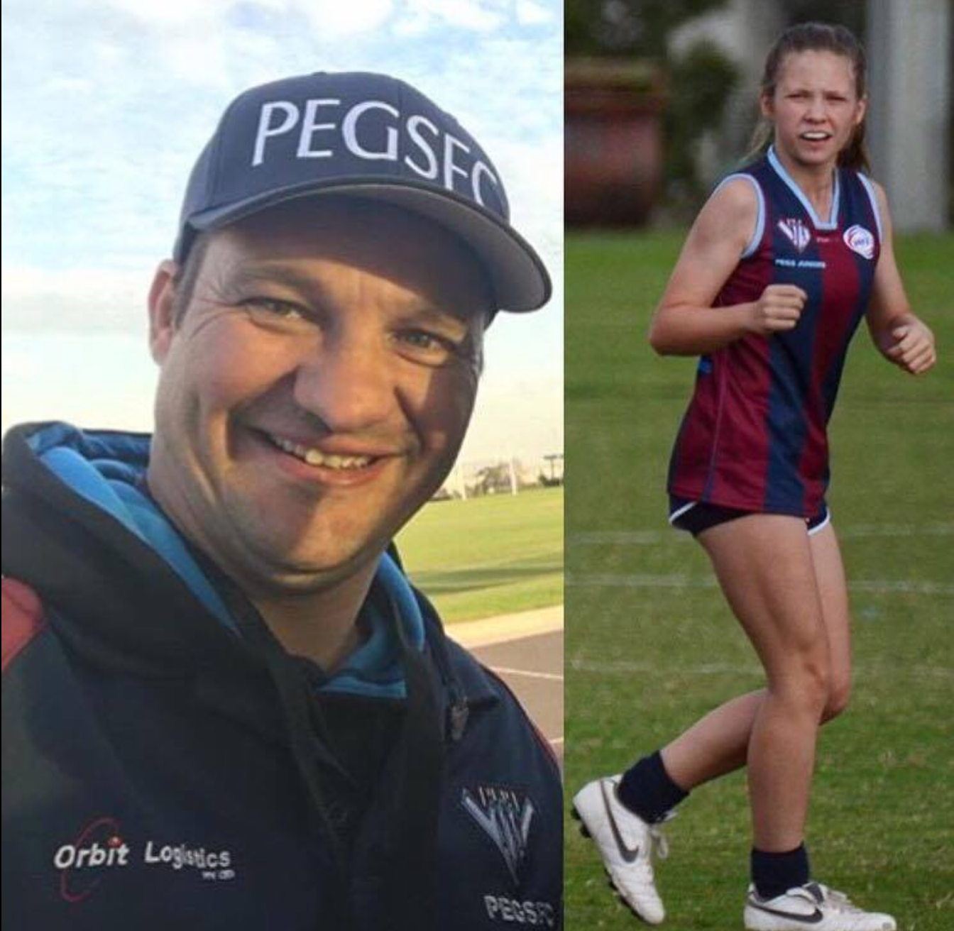 Michael and daughter, Lily enjoy the football life as coach and player.