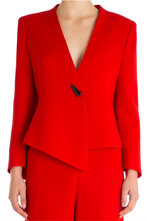 We love this gorgeous Carla Zampatti statement blazer. But at over $900, think about how long you will have in your wardrobe. See why below in the shorts section. Available  here.