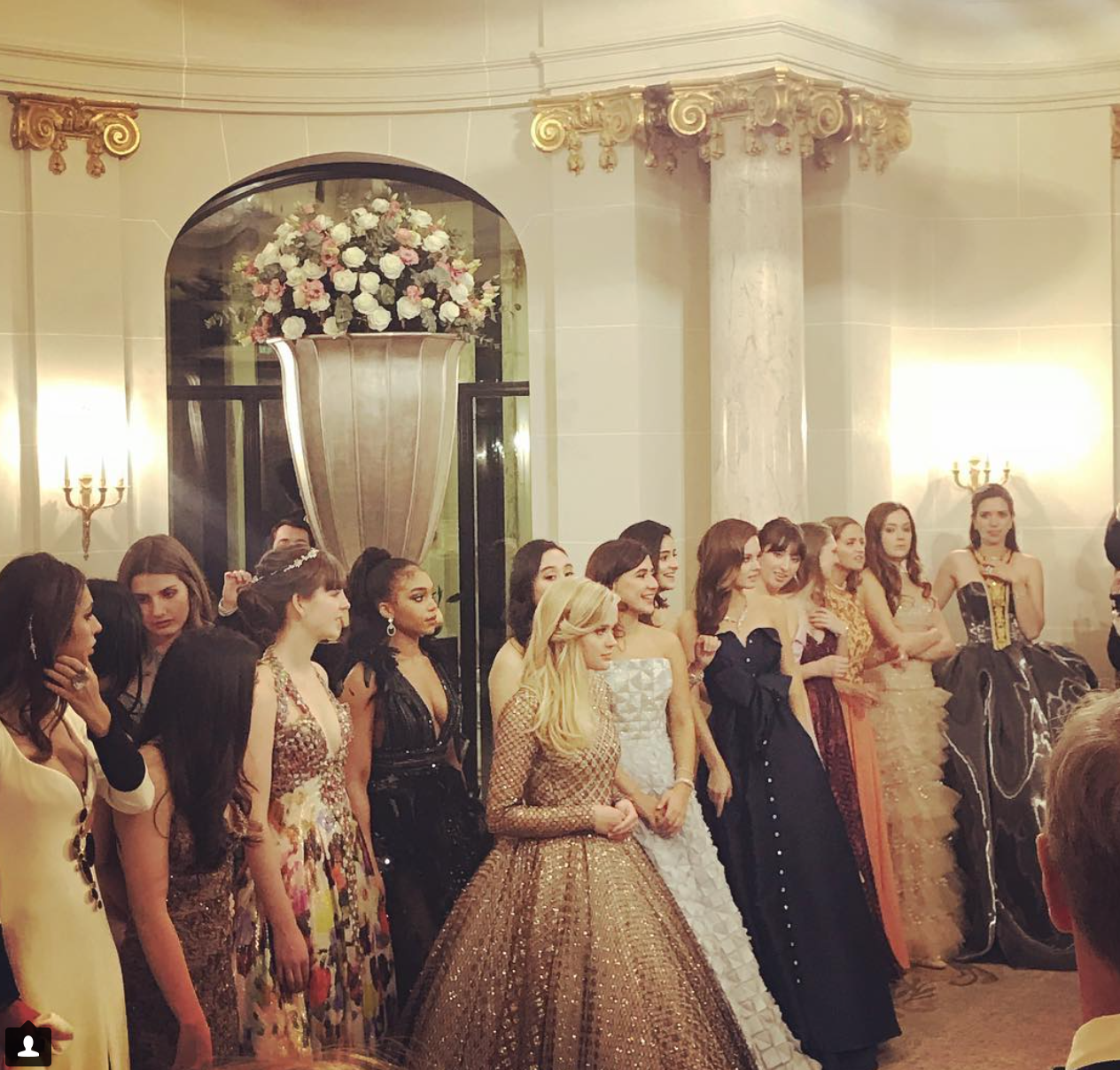 Ava looked the Hollywood starlet in a sparkling gold ball gown by Giambattista Valli Haute Couture  Image: Instagram -  The Peninsula Paris Official