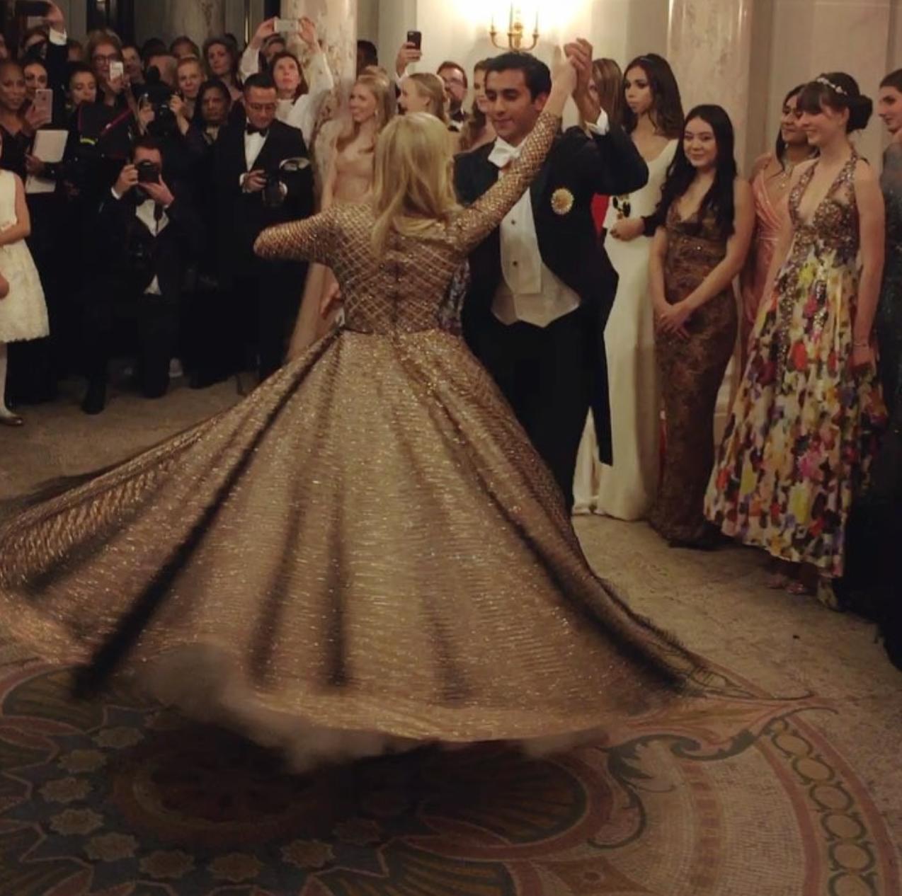 Le Bal first waltz.  Image: Instagram -  The Peninsula Paris Official