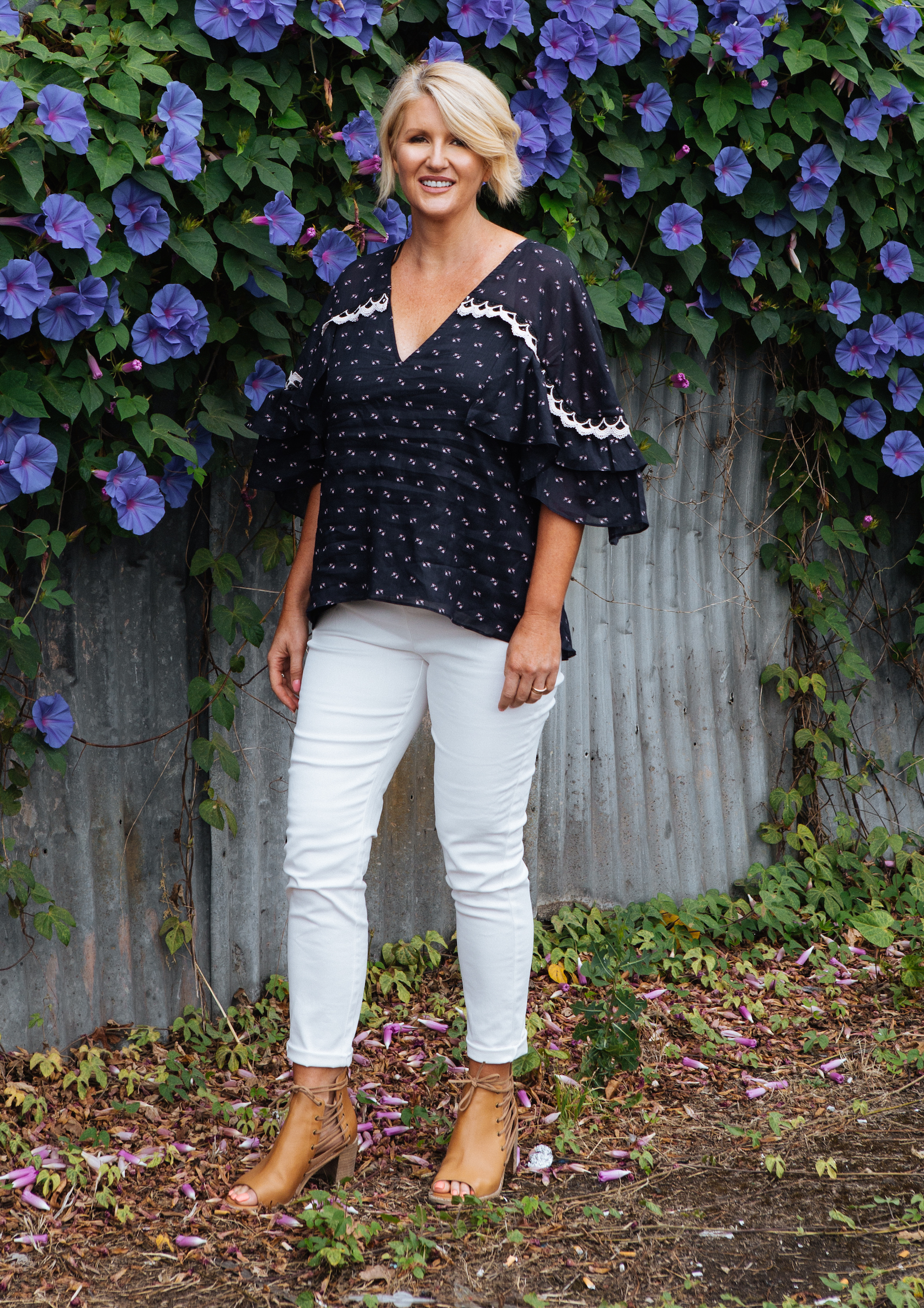 """A gorgeous investment piece, like this top doesn't have to go into the """"best"""" section of your wardrobe. Pull it out and style with all your jeans.   Stevie May - Coronado Top"""