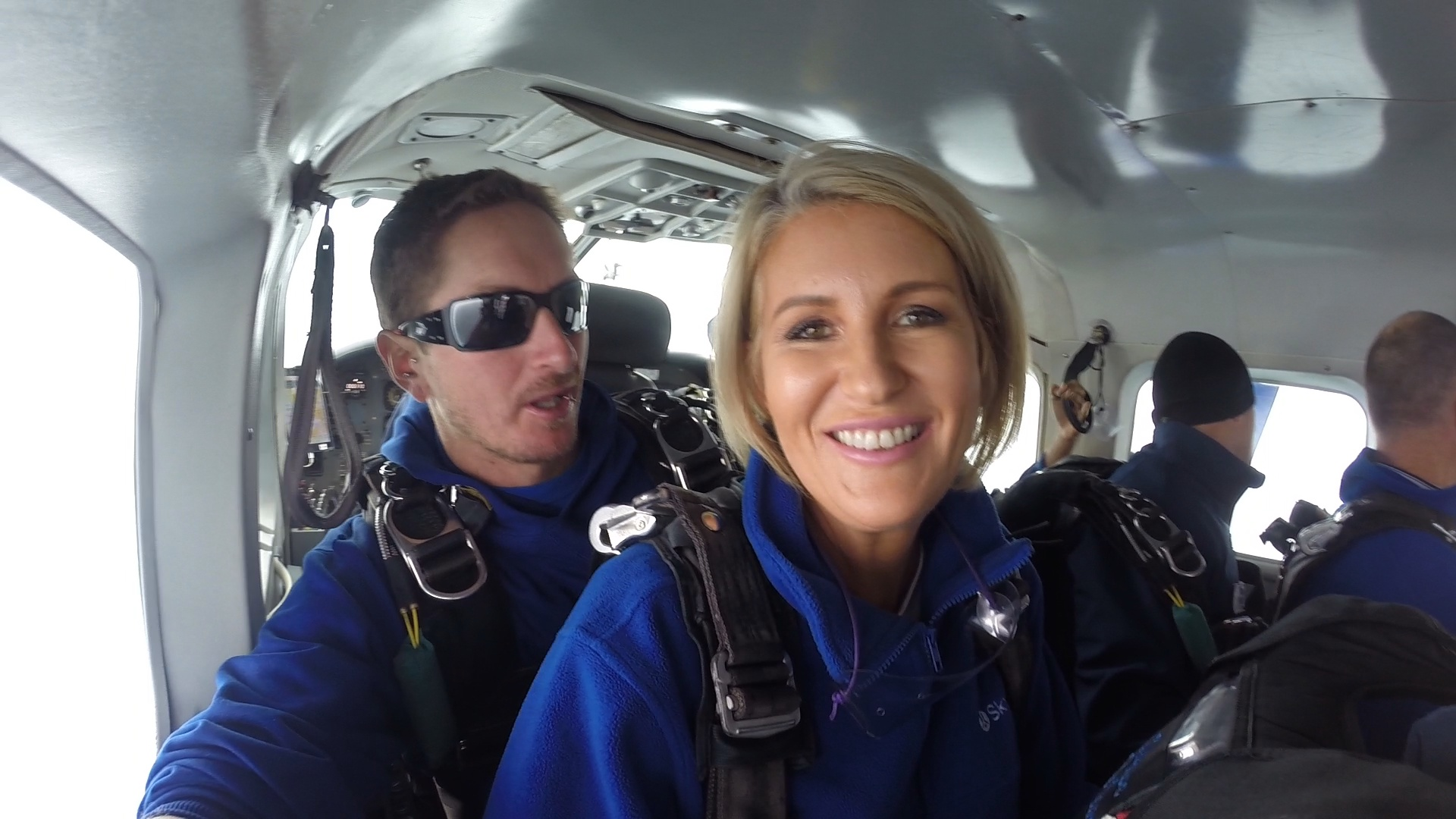 In the plane with my instructor Kevin.