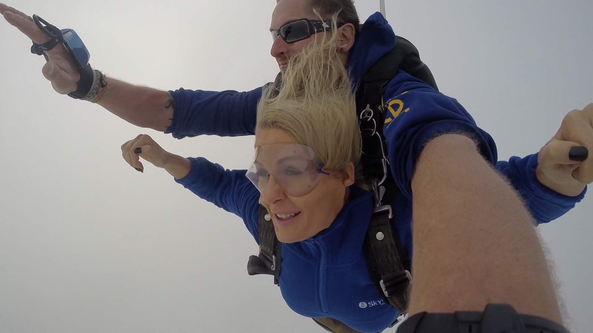 Free falling through the clouds.