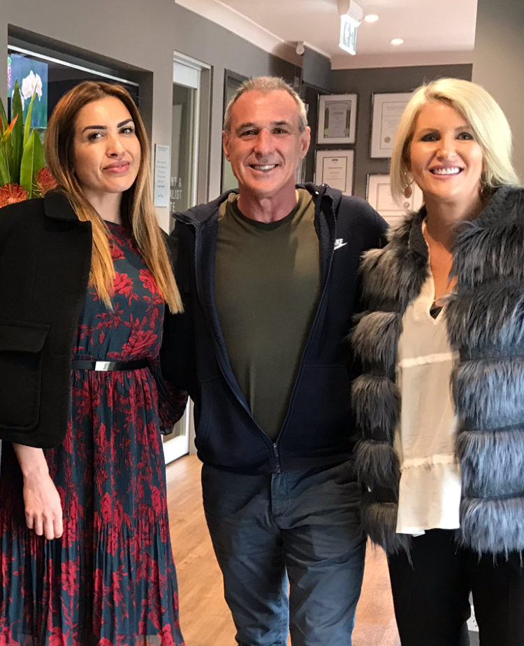 Gorgeous Nadia, John and Moi from MAFS.