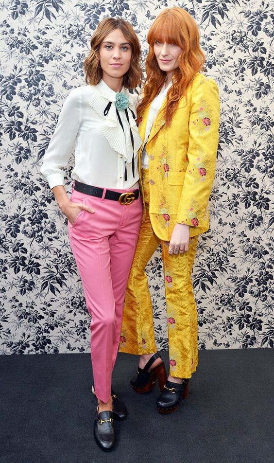 Alexa Chung and Florence Welch attend Gucci Timepieces and Jewelry Show.