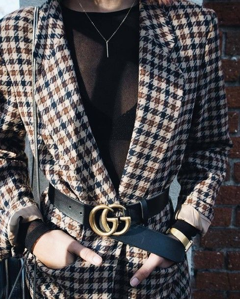 Style Your Gucci Belt around your favourite blazers.