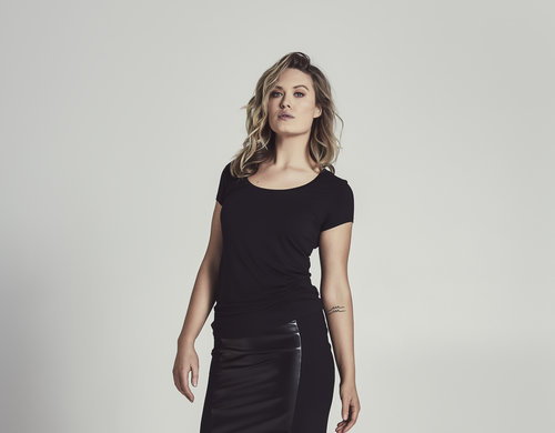 Cazinc The Label's Bamboo T'Shirt with our Faux Leather Skirt