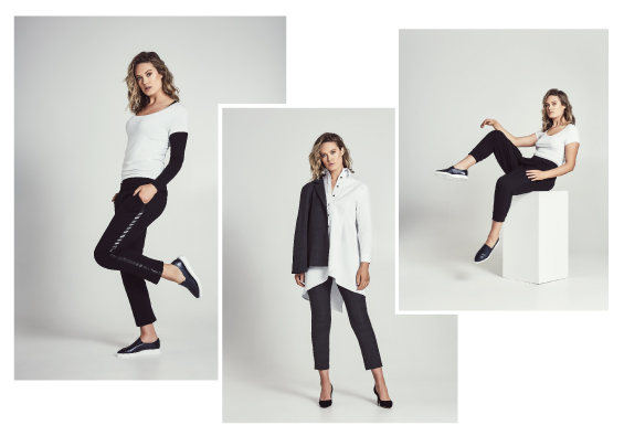 Image 1 - Black Cigarette Pants Image 2 - Italian Wool Cigarette Suit Pants Image 3 - Cross Over Pants  All super slimming and comfortable.