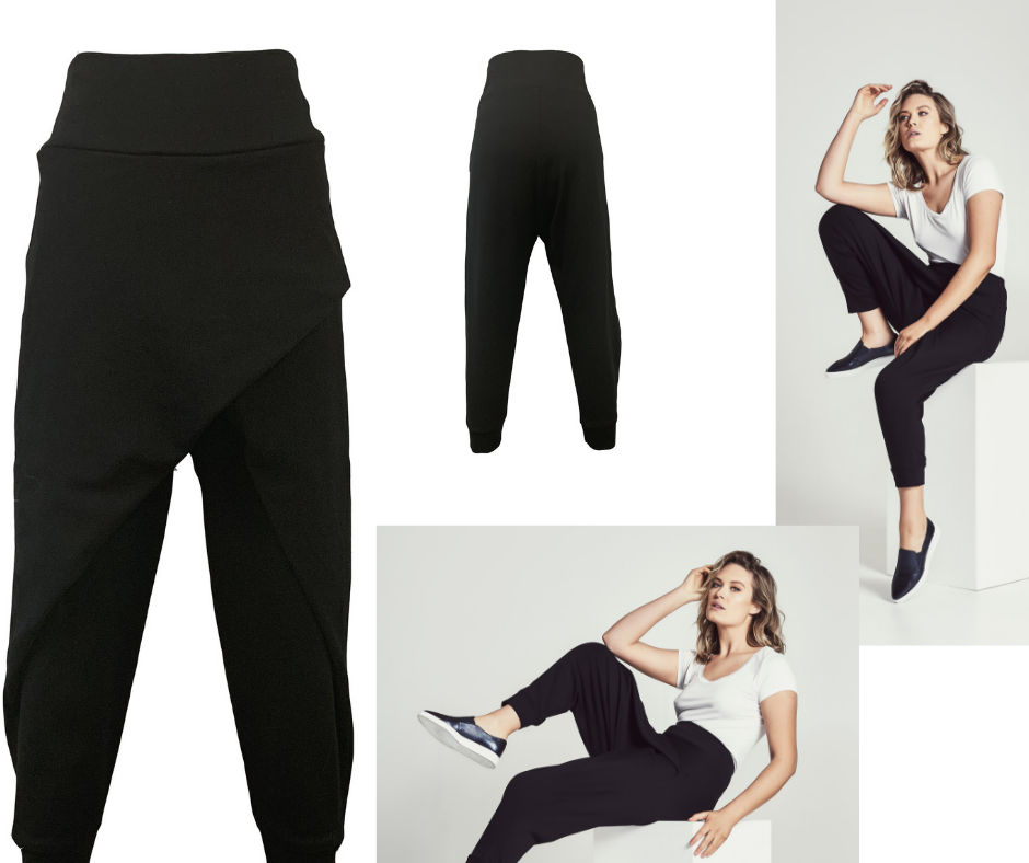 Cazinc The Label's crossover pants and bamboo t-shirts are perfect for travelling.