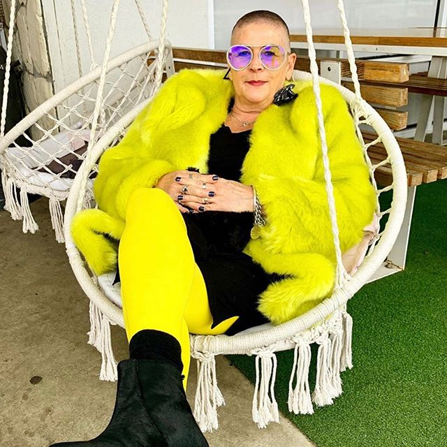 Our Acid Yellow Faux Fur coat styled to perfection @edgy_50 💛💛💛 . #edgystyle #love #stylishwoman #50andfabulous #over50andfabulous #50andfeelingfabulous #ownyourstyle #cazincthelabel #realclothesforrealwomen 💛💛