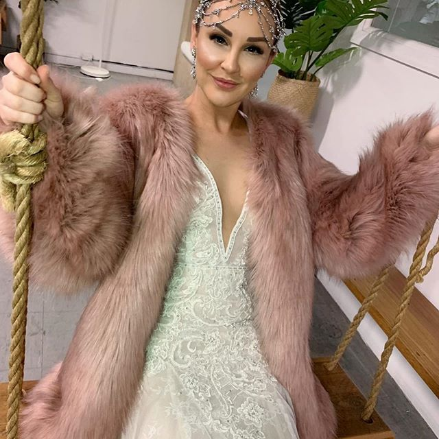 Many brides have purchased our pink or white faux fur coats for their special day (one bride purchased one for herself and one as a gift to all bridesmaids!) - beautiful @mellucarelli loves her pink faux fur coat so much that she wore it for a bridal photo shoot and she looks gorgeous 💕 Faux fur coats are being purchased not only by brides, but for weddings and all special occasions, like spring carnival racing, birthday celebrations and many other events 💕. Shop online or come into our boutique in Essendon or Design A Space Melbourne 💕 #weddingdress #wedding #bride #mafs #mafs2019 #fauxfurcoat #cazincthelabel #realclothesforrealwomen 💕
