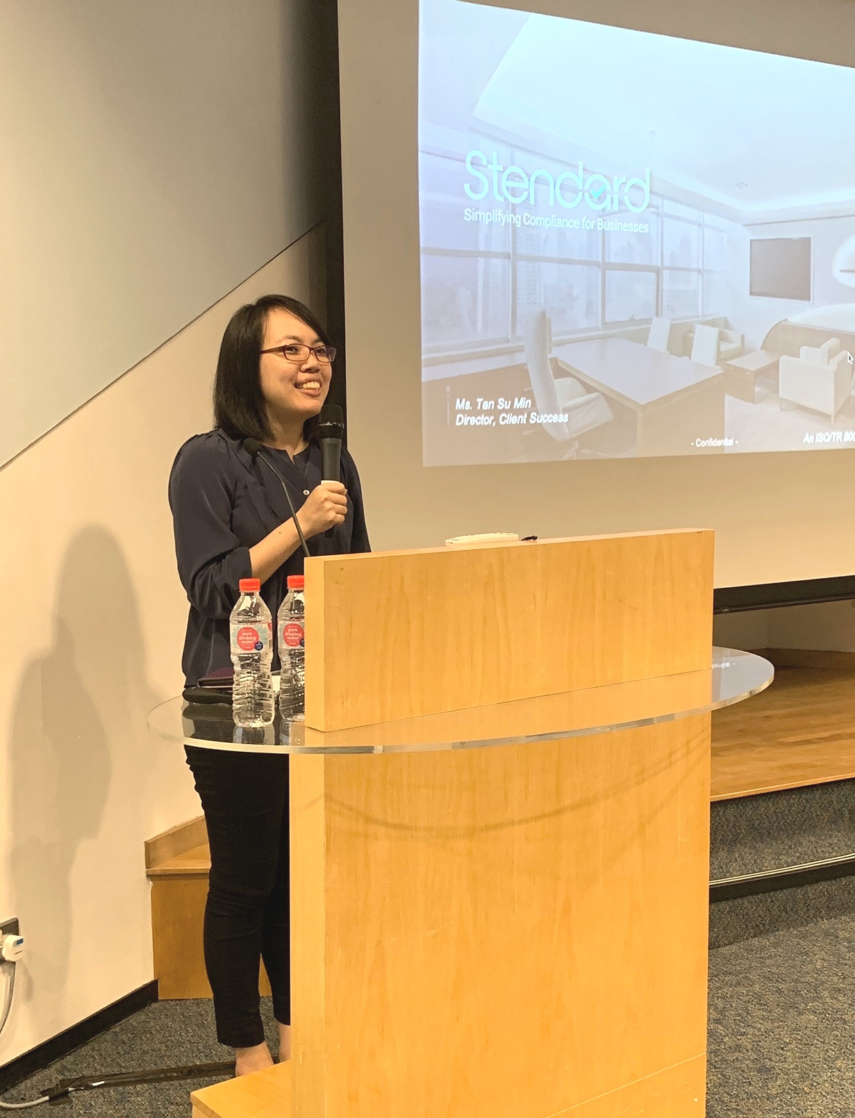 Ms Tan Su Min - Director of Client Success, Stendard - Addressing the crowd at SHEF 2019