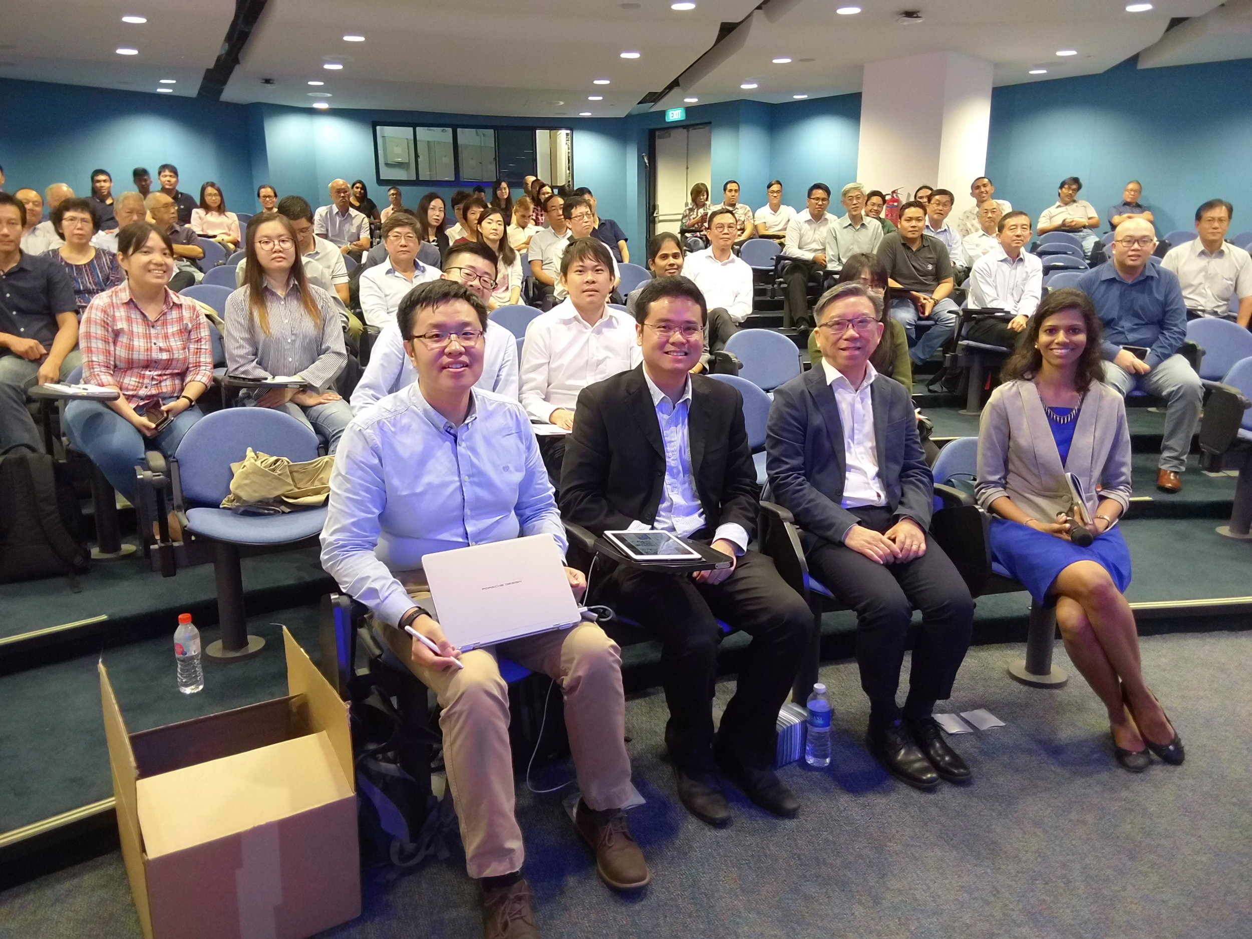 Participants at SHEF 2019 together with Keynote speaker, Professor James Goh, Head of Department, Department of Biomedical Engineering, National University of Singapore.