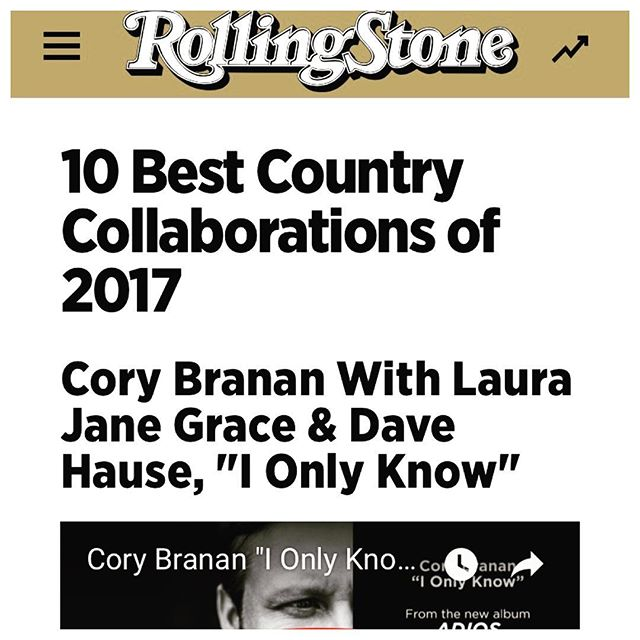 I usually take these year end lists with a sea of salt but I'm not gon' lie- this one makes me happy as hell. Hey look @davehause @laurajanegrace - we really snuck in the side door on this one! Thanks @rscountry @rollingstone #shesgonecountry #lookatthemboots
