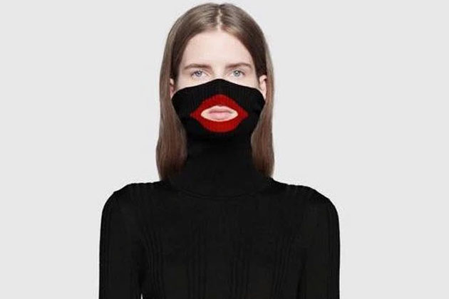 """The Gucci wool balaclava jumper that sparked outrage with many calling it a """"blackface"""" sweater."""